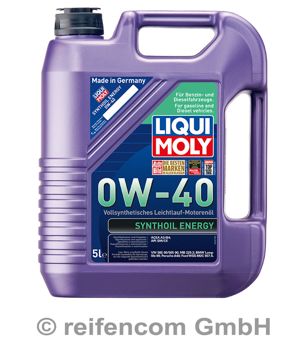 motor l liqui moly synthoil energy 0w 40 1361 5 liter 5l. Black Bedroom Furniture Sets. Home Design Ideas