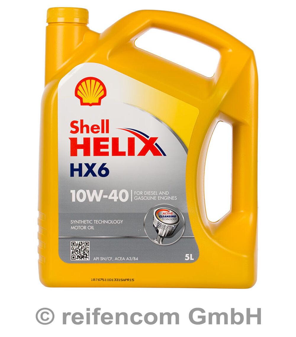 shell helix hx6 10w 40 5 liter 5l rn0700 229 1 505 00. Black Bedroom Furniture Sets. Home Design Ideas