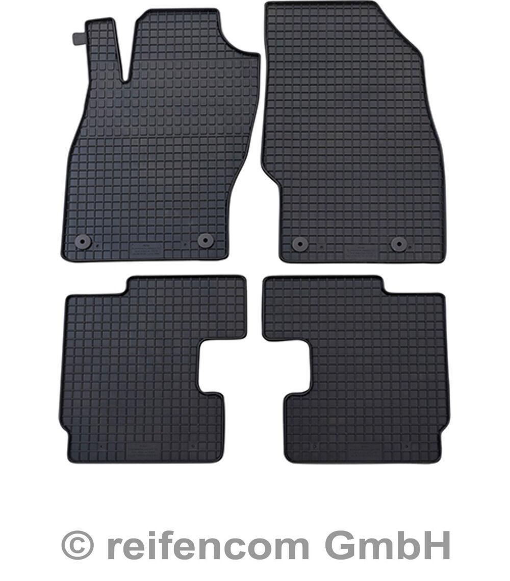NEU $$$ SCHWARZ $$$ Original Lengenfelder Fußmatten passend für Opel Adam