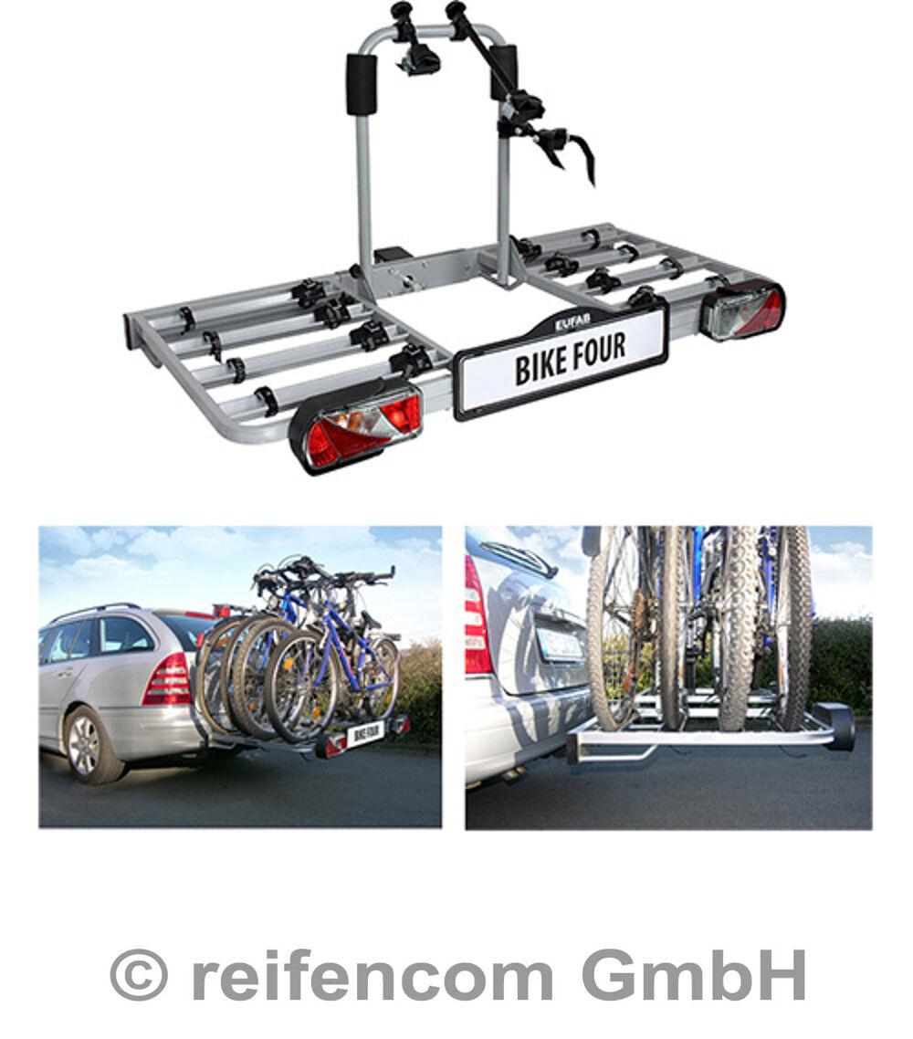 eufab fahrradhecktr ger bike four f r anh ngekupplung f r