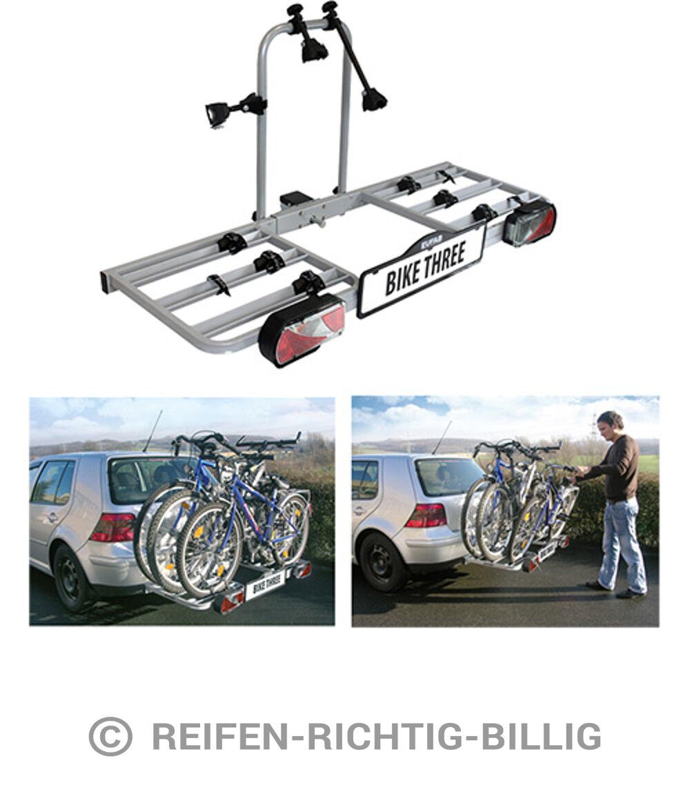 eufab fahrradhecktr ger bike three f r anh ngekupplung f r 3 fahrr der ebay. Black Bedroom Furniture Sets. Home Design Ideas