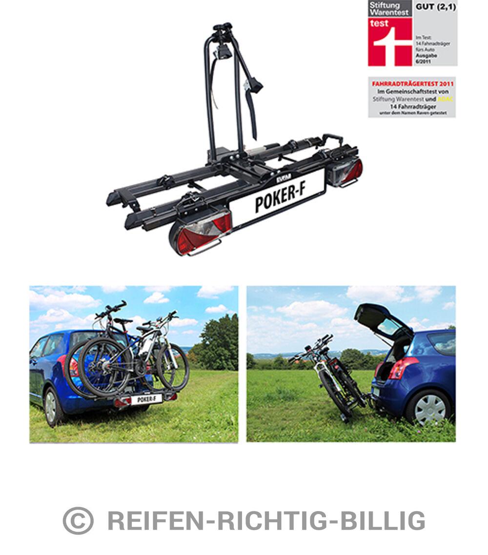 eufab fahrradhecktr ger f r anh ngerkupplung poker f f r 2 fahrr der ebay. Black Bedroom Furniture Sets. Home Design Ideas