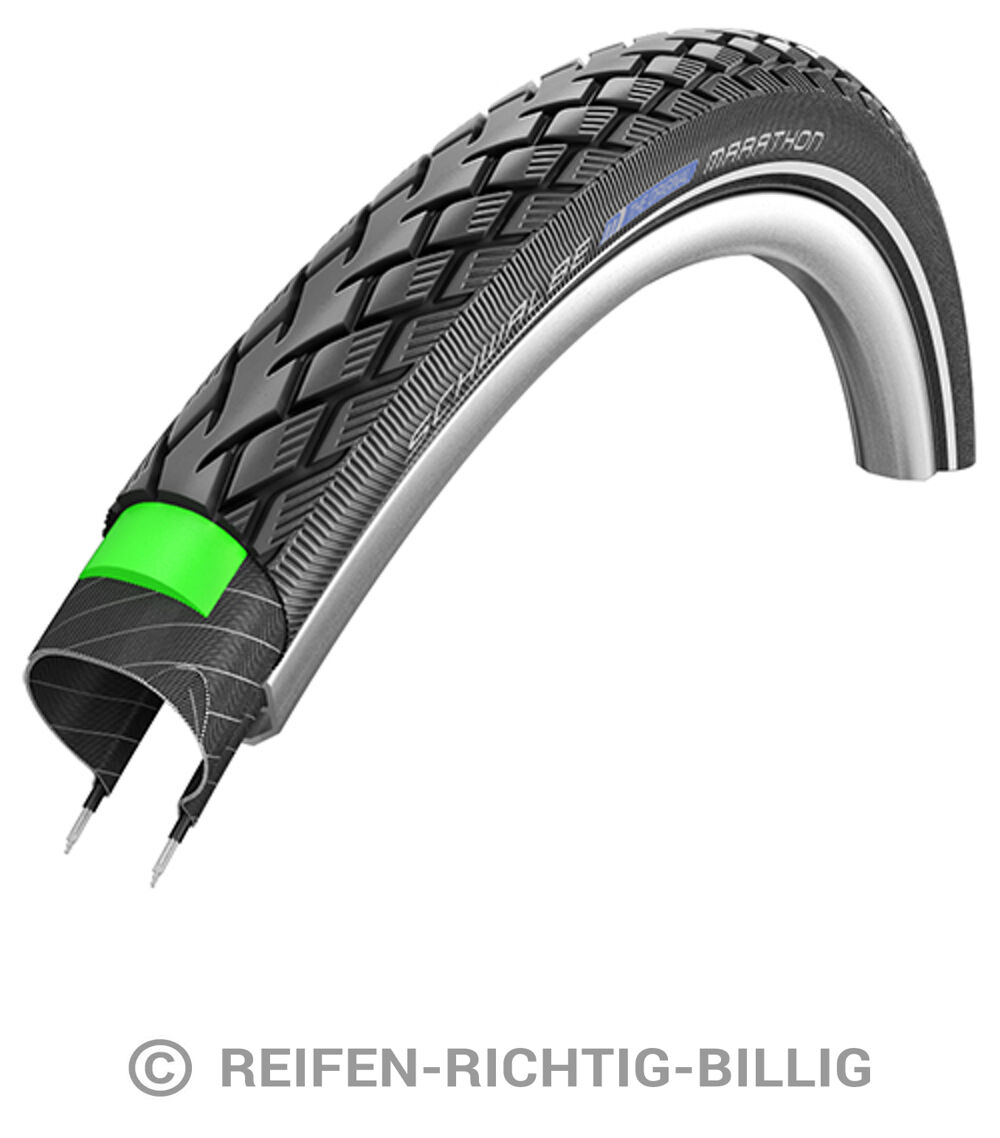 schwalbe schwalbe fahrradreifen 47 559 marathon hs420 green guard. Black Bedroom Furniture Sets. Home Design Ideas
