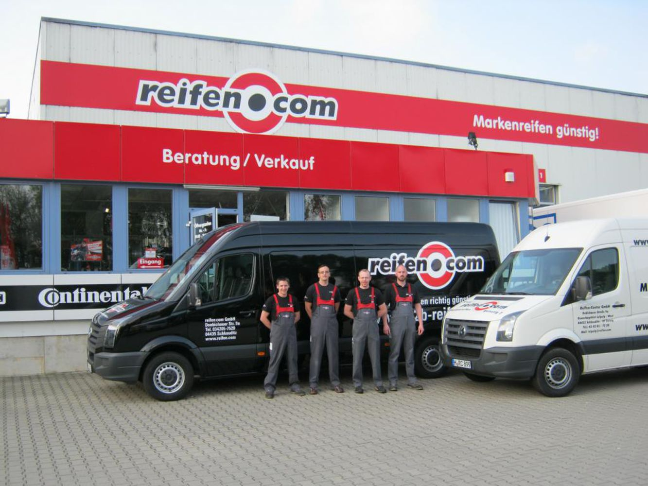 Our reifen.com-team in Schkeuditz