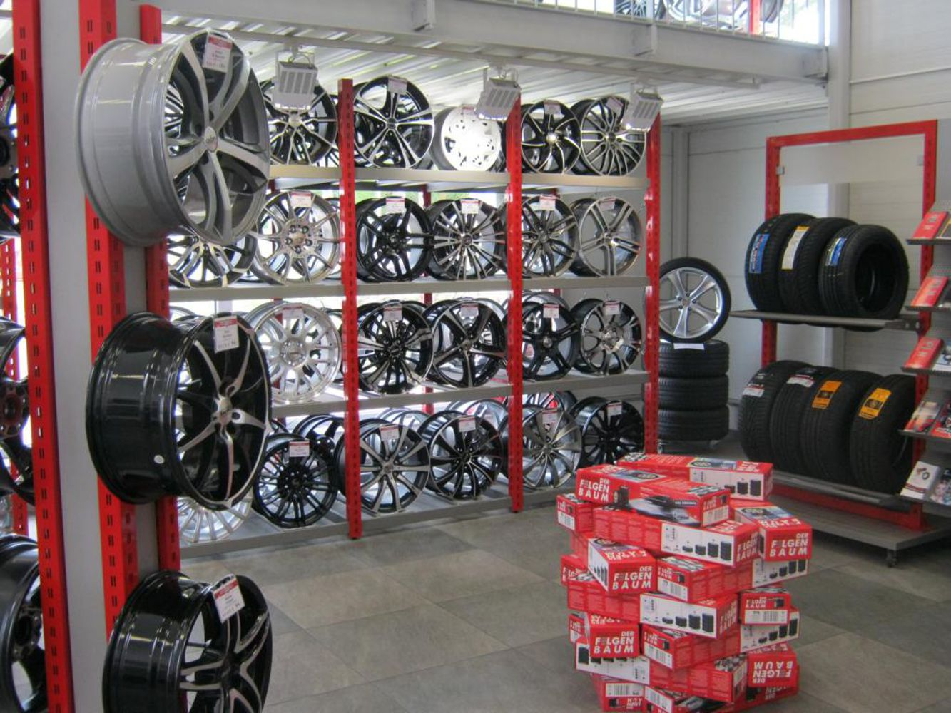 Tyre and alloy wheels showroom