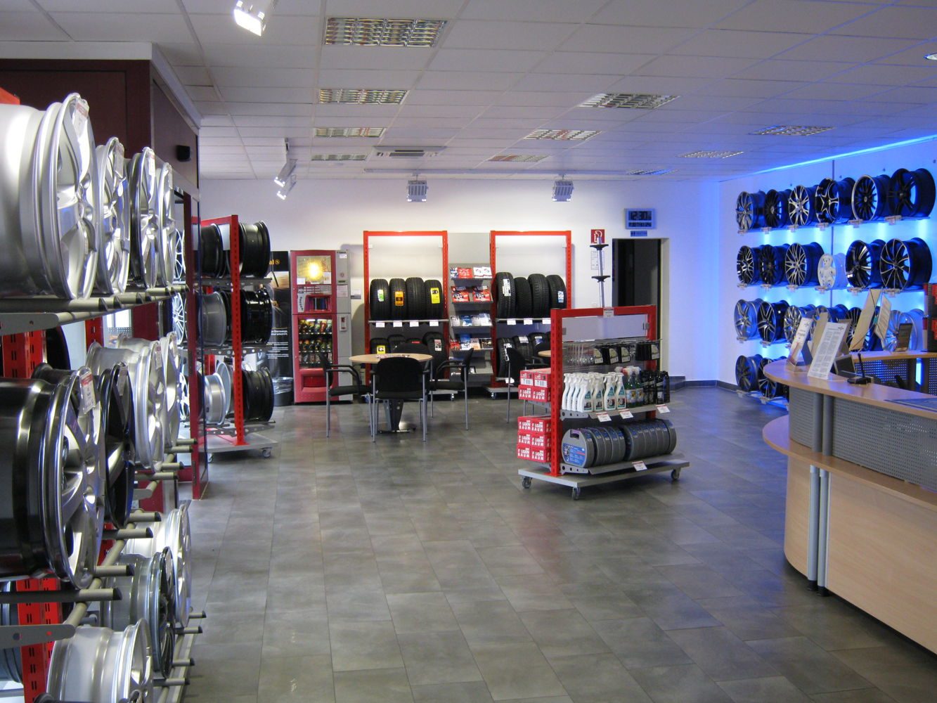 Tyres and rims showroom