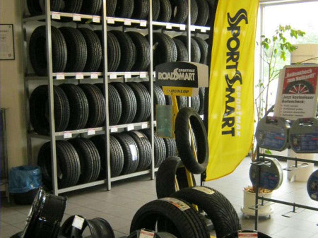 Tyres showroom