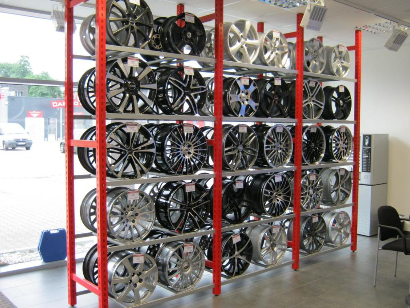 Alloy wheels showroom